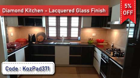 Flat 5% Off on Labor Charge for Diamond Kitchen- Lacquered Glass Finish